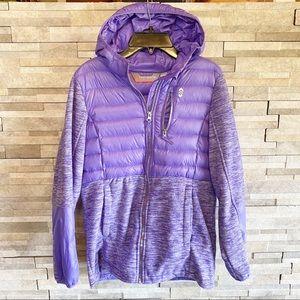 Girls 14 16 jacket coat large purple hooded zip